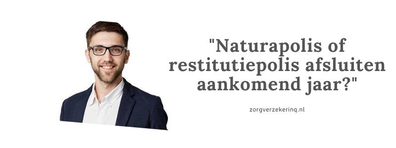 Een naturapolis of restitutiepolis afsluiten in 2021
